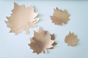 Rose Gold Oly*Fun from Fairfield leaf shapes for creating a fall DIY project.