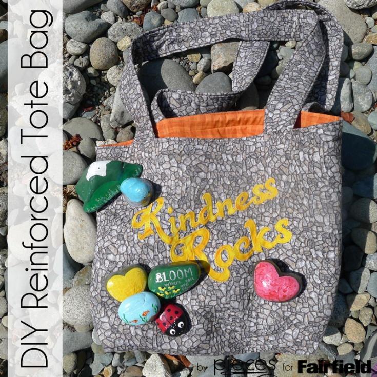 Kindness Rocks Reinforced Tote Bag Fairfield World Craft