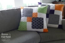 Disappearing Nine Patch Throw Pillows