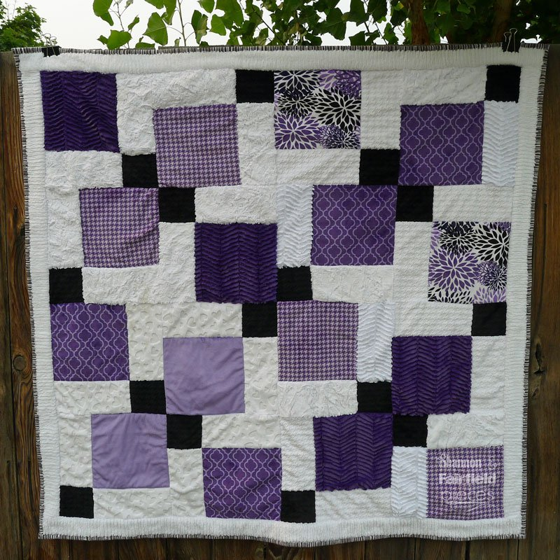 Disappearing Nine Patch Cuddle Quilt - So Easy you can finish in a day