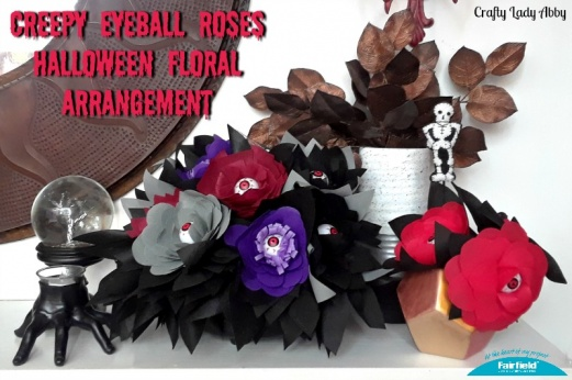 Creepy Eyeball Roses Halloween Floral Arrangement
