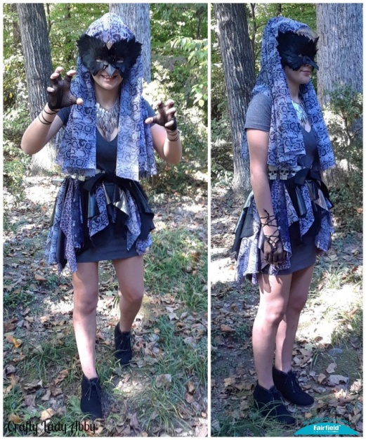 Dark Elf Fantasy Halloween Costume Tattered Bustle and No-Sew Vest