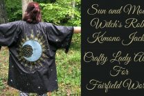 Sun and Moon Witch's Robe Kimono Jacket