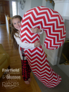 DIY Candy Cane Body Pillow with Shannon Cuddle