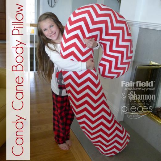 Giant Candy Cane Pillow - Body Pillow - Fairfield World