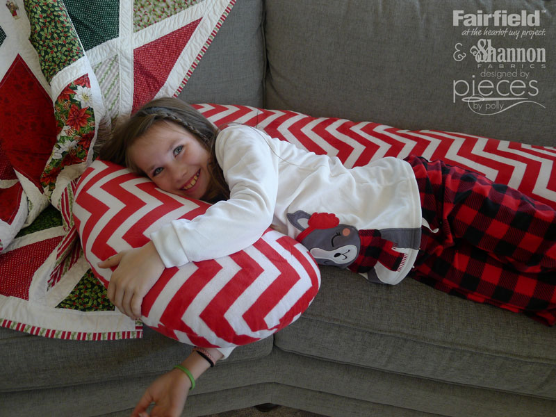 DIY Giant Candy Cane Pillow Body Pillow with Shannon Cuddle