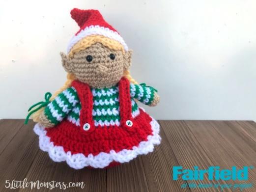 Crocheted Christmas Elf Girl