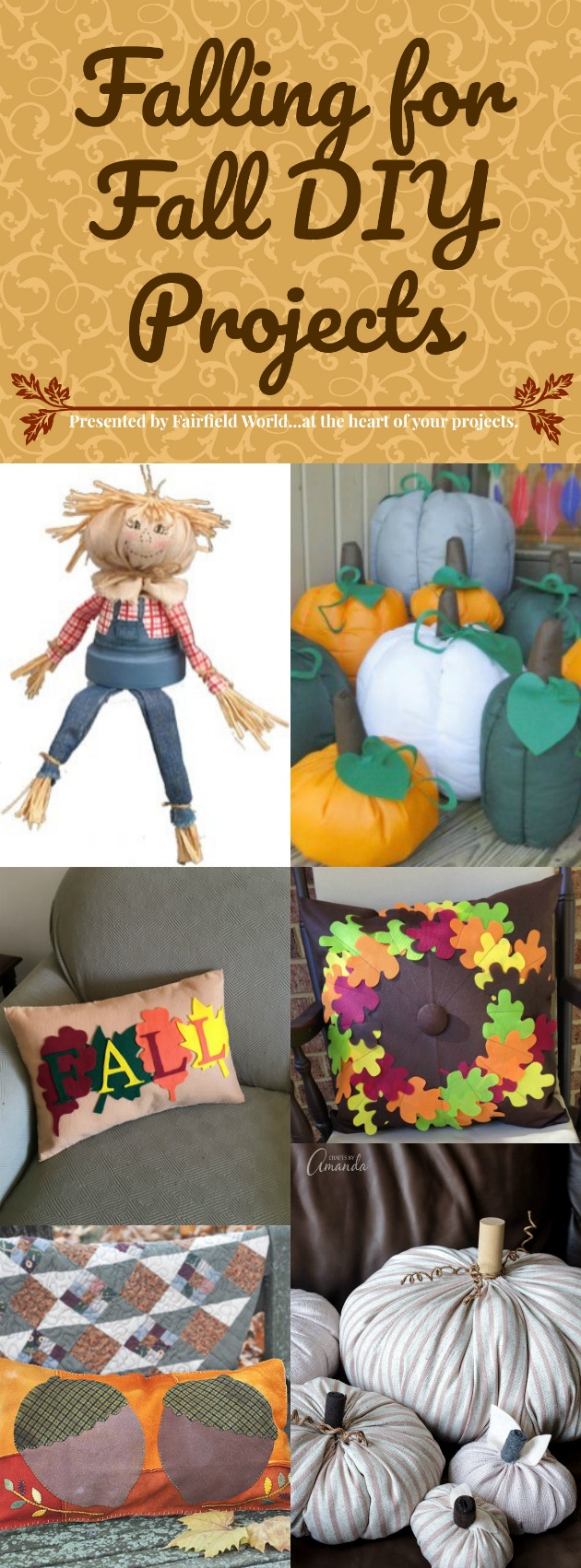 The days are shorter and the temperatures are dropping. What better excuse to stay inside and craft up a little something? There are so many fun projects to make to celebrate the season of fall. Here are a few of our favorite fall DIY themed projects.