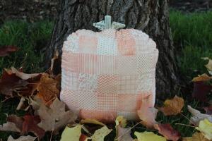 Faux Quilted Pumpkin Pillow