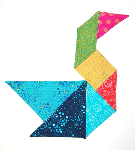 Quilted Tangram Puzzle