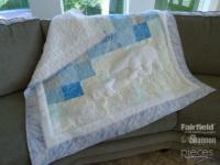 Perfect Wintery Polar Bear Quilt - Baby Quilt - Alaska Quilt