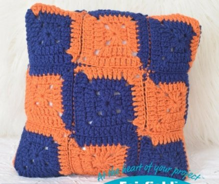 Crochet L Square Pillow