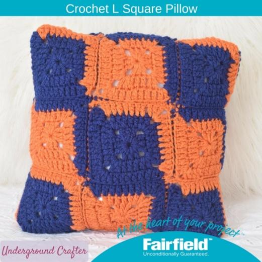 Crochet L Square Pillow