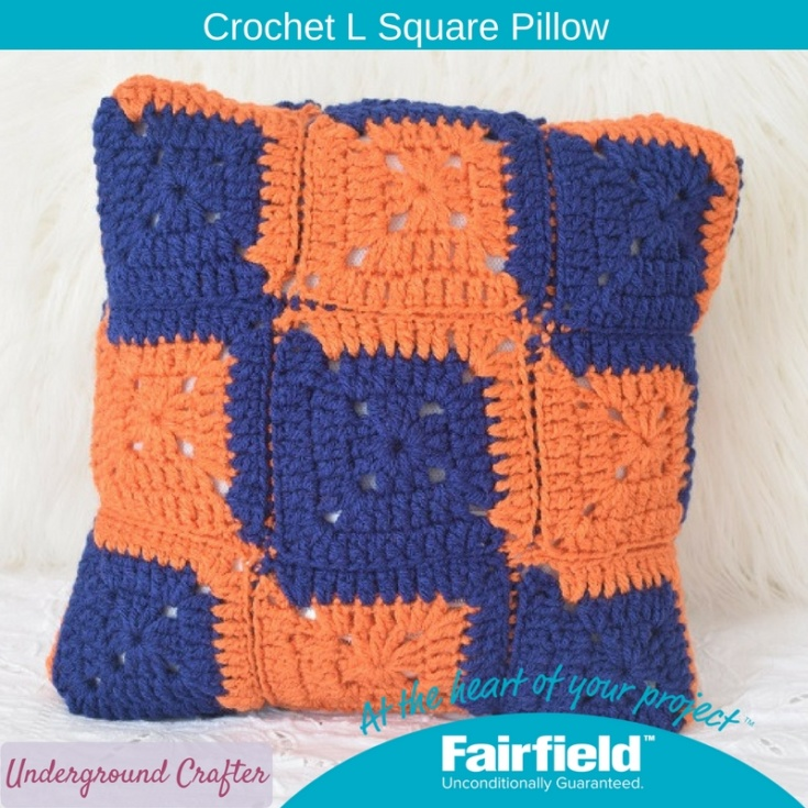 Crochet L Square Pillow - Fairfield World Craft Projects