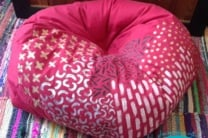 Painted and Refilled Bean Bag Chair