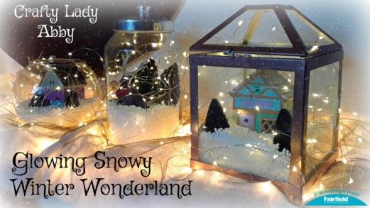 Glowing Snowy Winter Wonderland
