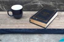 Rustic Wood and Denim Lap Desk