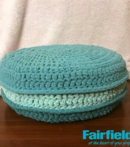 Crochet French Macaron Cushion