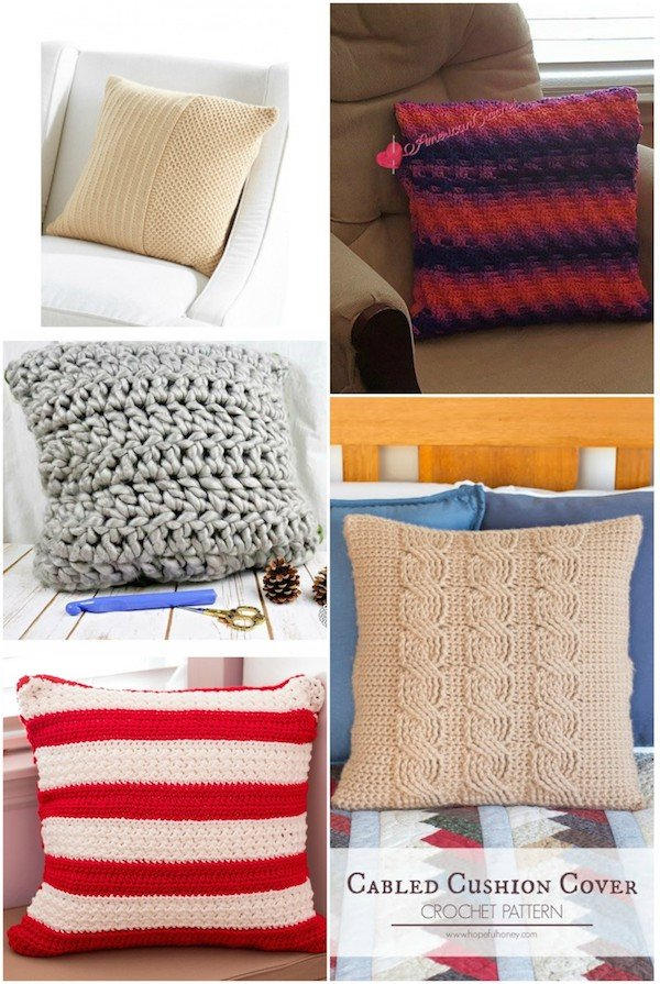 Cuddle Up with 40 Free Crochet and Knit Pillow Patterns - Fairfield ...