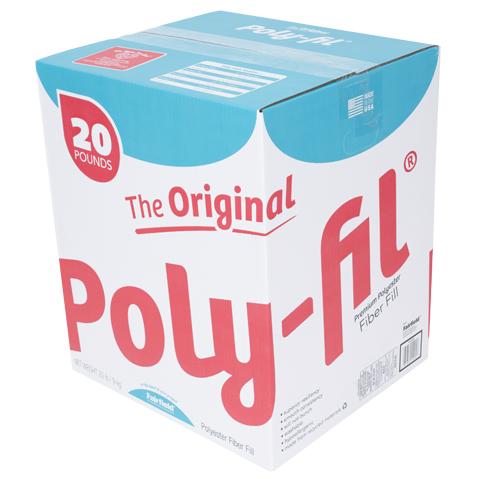 Poly-Fil® 100% Polyester Fiber Fill – 20 Pound Box