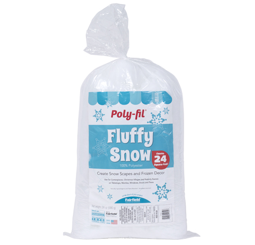 Poly-Fil® Fluffy Snow 24 oz. for DIY Snow Scapes