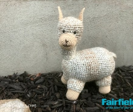 Crocheted Llama