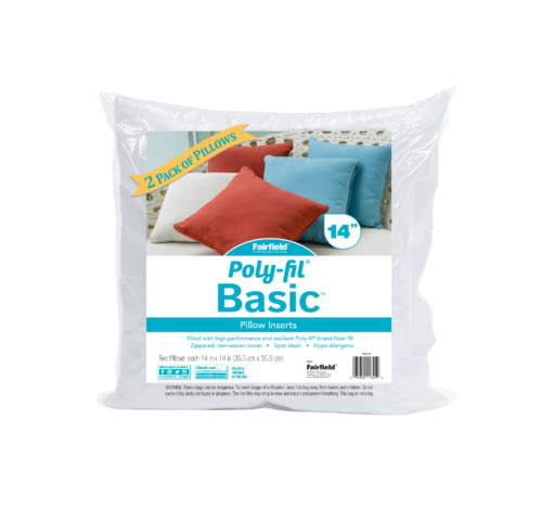 Poly-Fil® Basic™ Pillow Insert  14″ x 14″ Two Pack