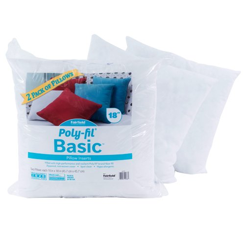 Poly-Fil® Basic™ Pillow Insert  18″ x 18″ Two Pack