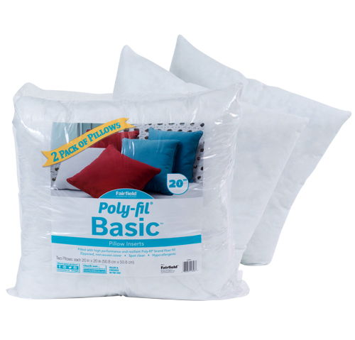 Poly-Fil® Basic™ Pillow Insert  20″ x 20″ Two Pack