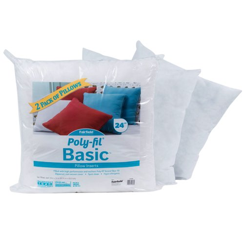 Poly-Fil® Basic™ Pillow Insert 24″ x 24″  Two Pack