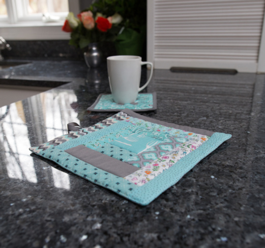 Kitchen - Pretty and Protective - Quilted Hot Pad
