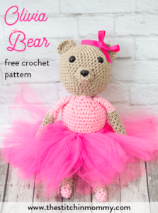 Olivia Bear, free crochet pattern by The Stitchin' Mommy