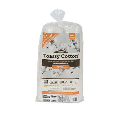 Toasty Cotton Batting 72″ x 90″ 2pk rolls