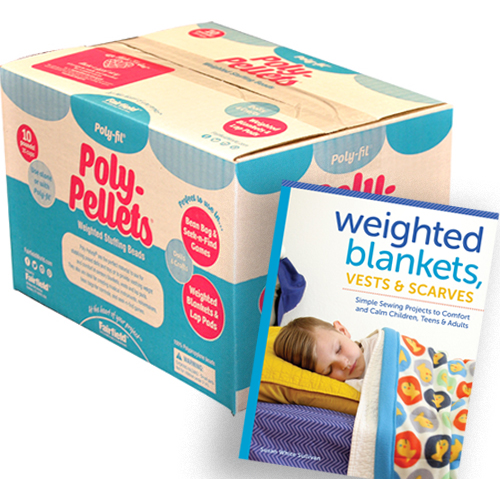 Poly-Fil Poly Pellets Weighted Stuffing Beads 10 pound Box With Project Book