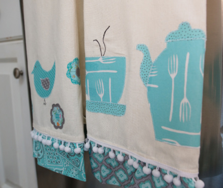 Easy Applique Dish Towels