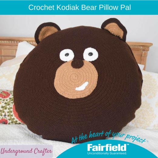 Crochet Kodiak Bear Pillow Pal