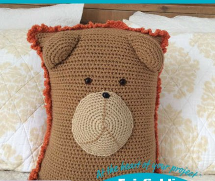 Crochet Lion Pocket Pillow