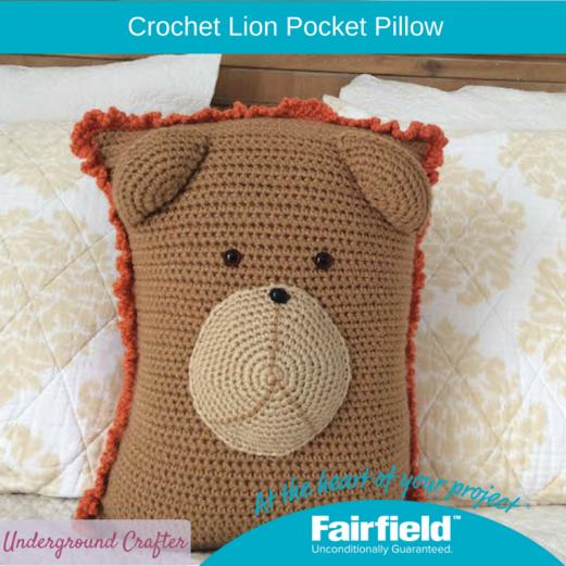 Crochet Lion Pocket Pillow Fairfield World Craft Projects