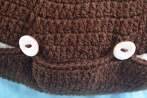 Free crochet pattern: Kodiak Bear Pillow Pal by Underground Crafter