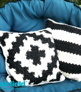 Black And White Outdoor Pillow Set