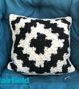 Geometric Crochet Pillow