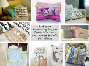 DIY Dorm Room Pillow Ideas