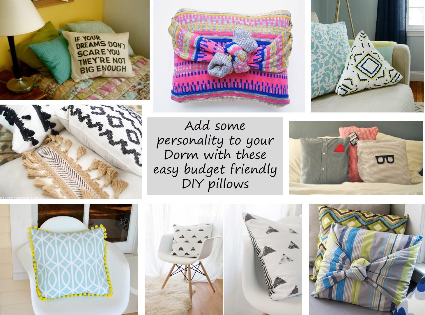 DIY Dorm Room Pillow Ideas