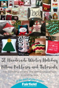 30 Handmade Winter Holiday Pillow Patterns and Tutorials