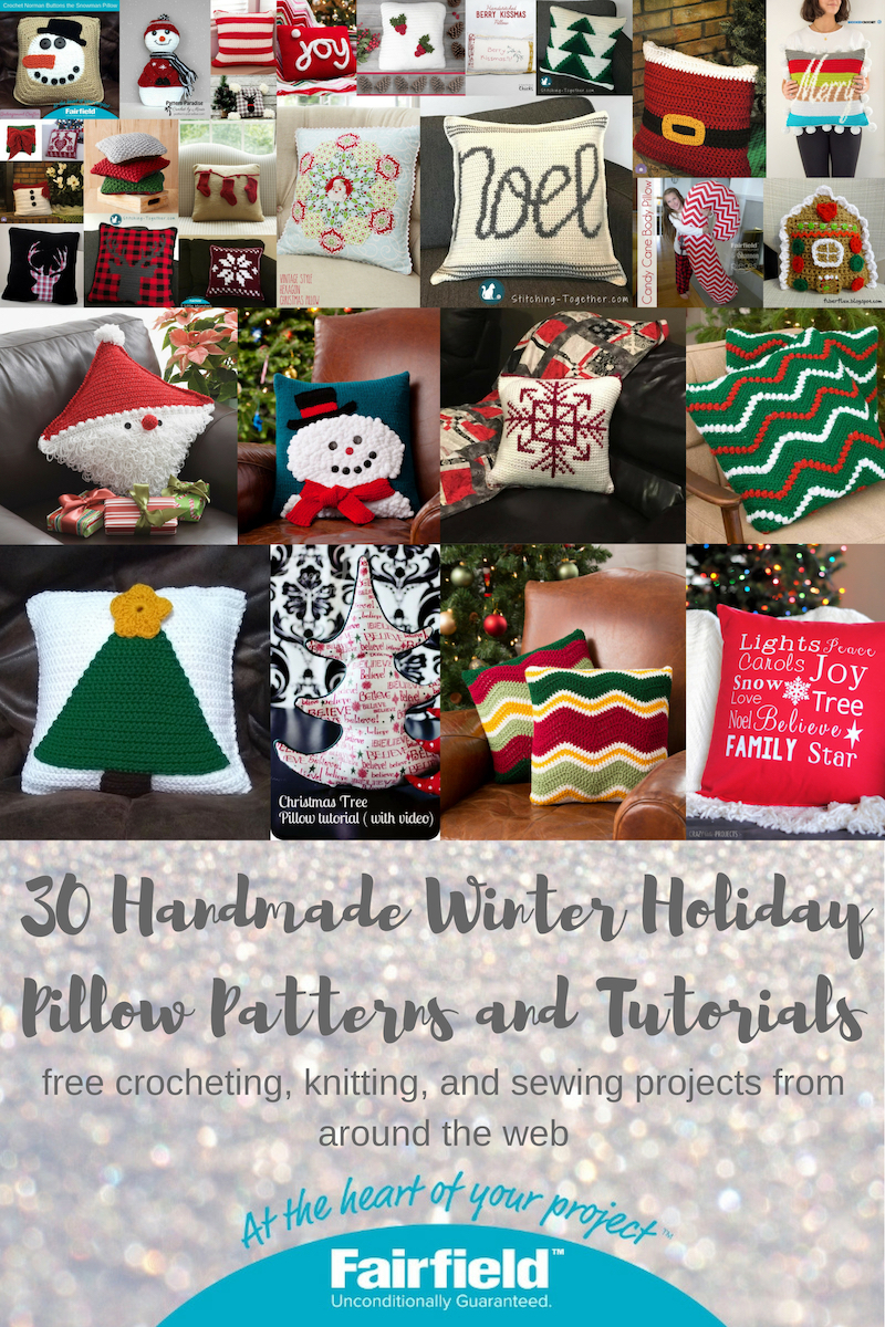 30 Handmade Winter Holiday Pillow Patterns and Tutorials - Fairfield ...