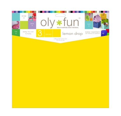 Oly-Fun® Craft Sheets – Lemon Drop – 18 pieces