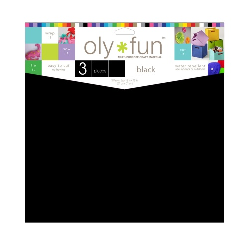 Oly-Fun® Craft Sheets – Jet Black – 18 pieces