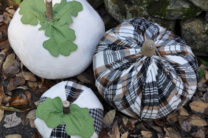 Stuffed Plaid Pumpkins