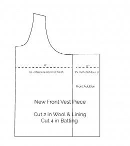 Funnel Neck Vest Front Alteration