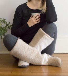 Boot Slippers Coziest Slipper & Leg Warmer Combo Ever A HAPPY STITCH 14
